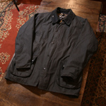 barbour navy bedale waxed jacket