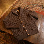 athena designs shawl collar hand knit cardigan