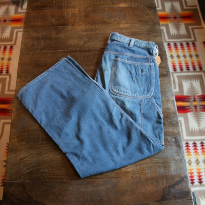 orslow denim patch work pants