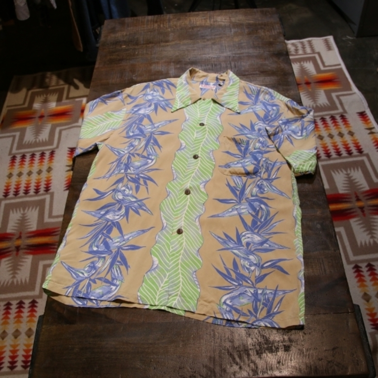 sun surf leaf pattern shirt