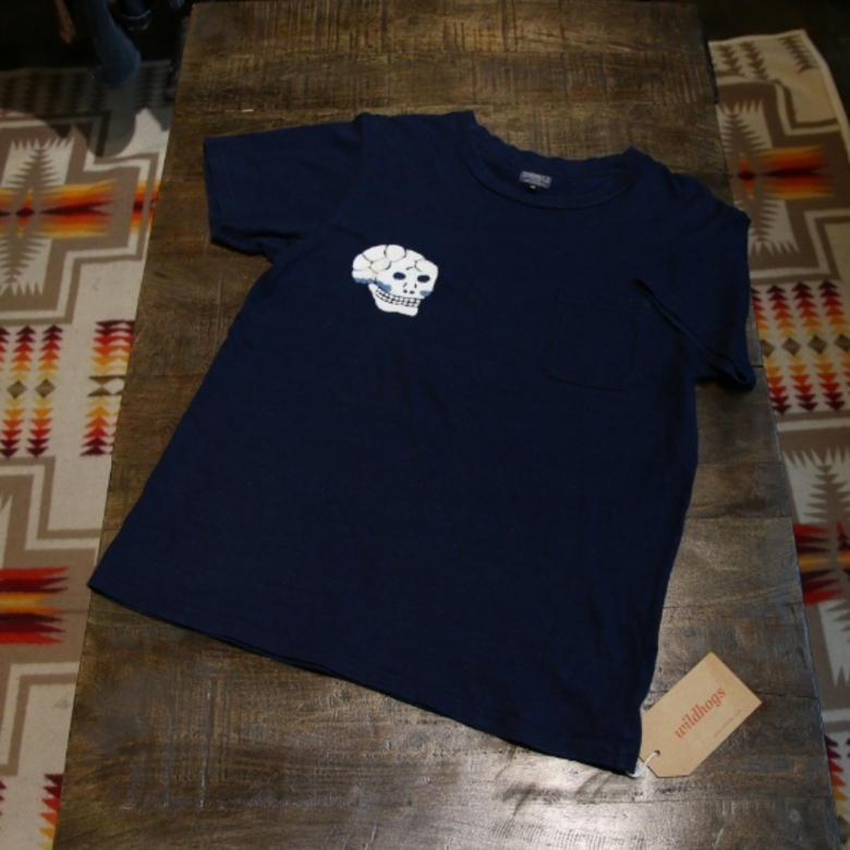 toyo enterprise skull pocket tee