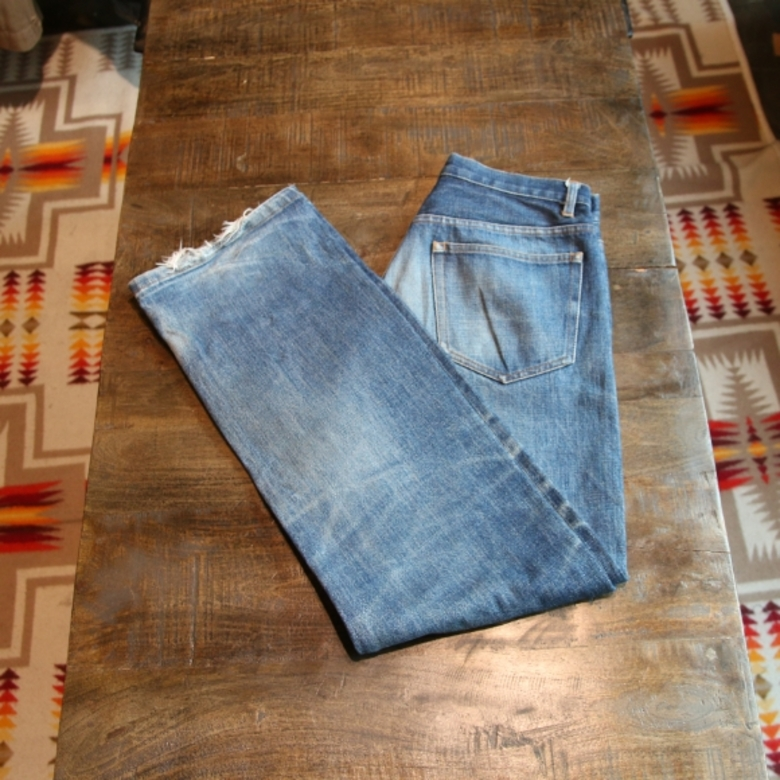 a.p.c bootreg denim