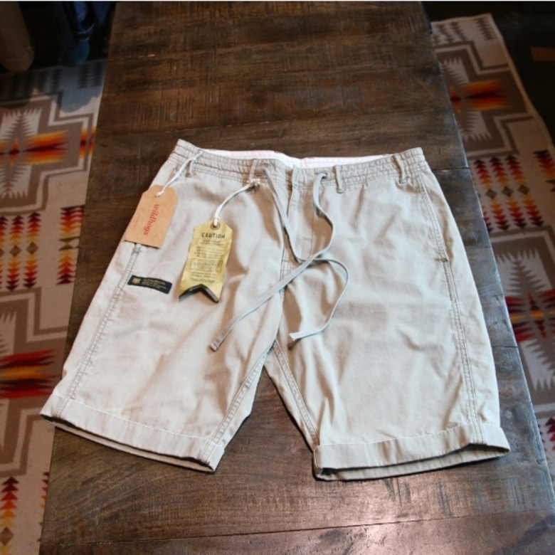neighborhood barrel beige shorts