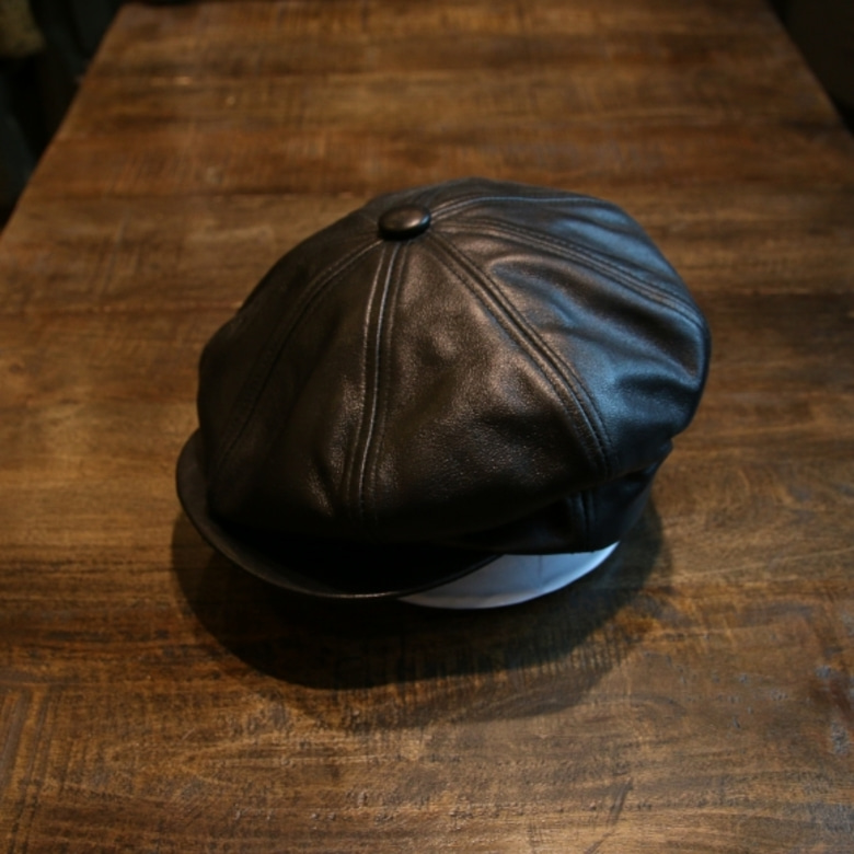 schott leather casquett