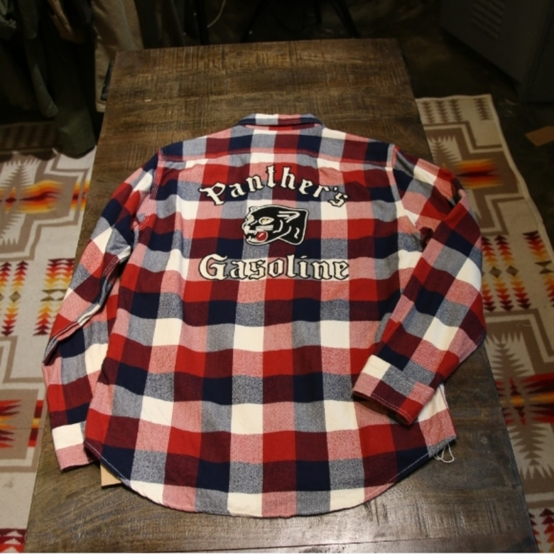 schott embroidery check shirts