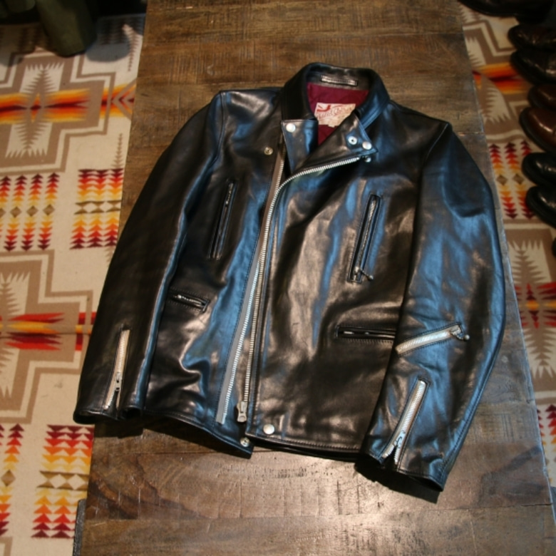 addict clothes AD-02L HORSE-HIDE DOUBLE RIDERS JACKET
