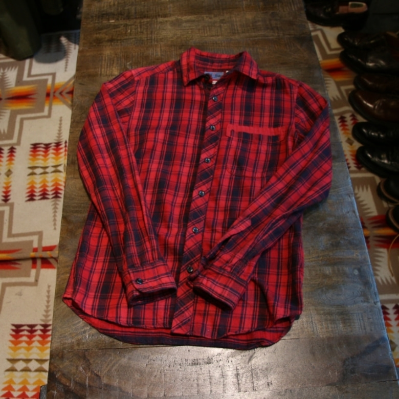 blue blue red check shirts