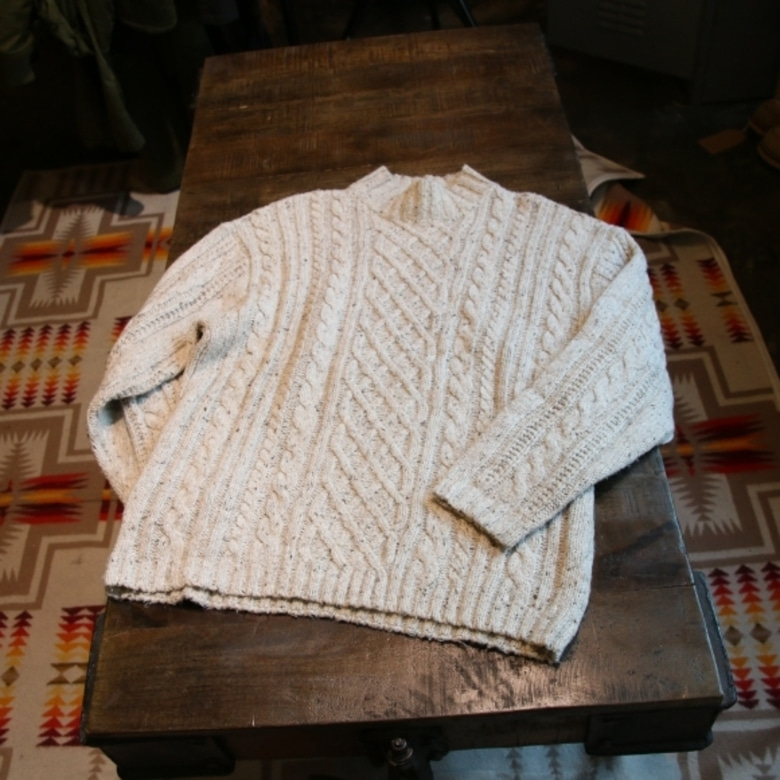 RRL cable knit
