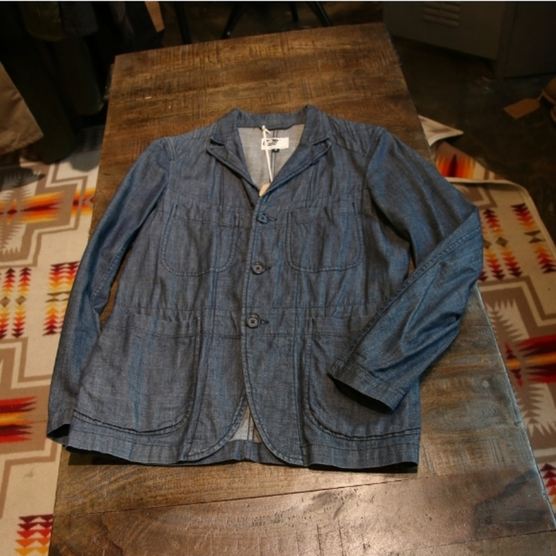 engineered garments denim bedford jacket