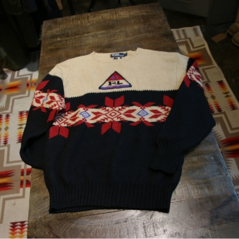 90's polo snow beach sweater