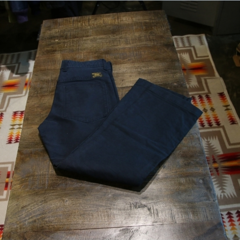 wtaps navy deck trousers