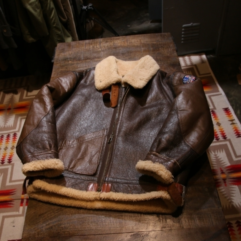 ww2 b-3 sheep skin bomber jacket (repro)