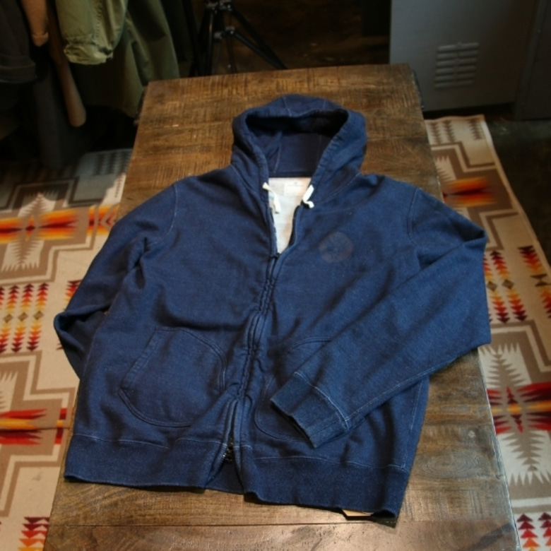 uniform experiment indigo hoody jacket