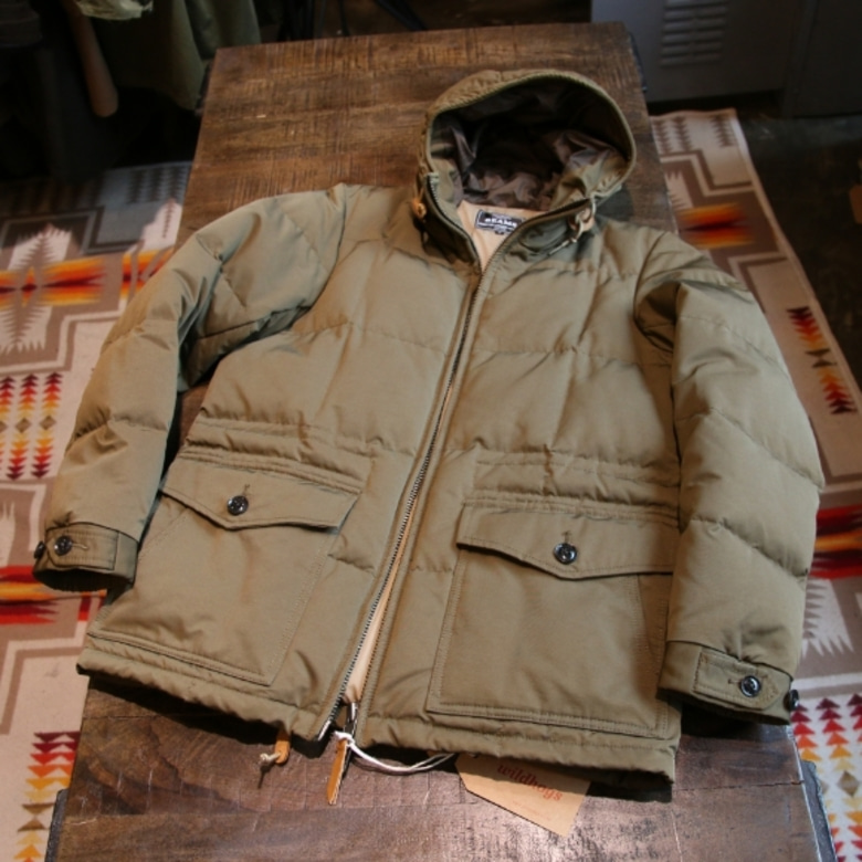 beams cotton nylon down parka