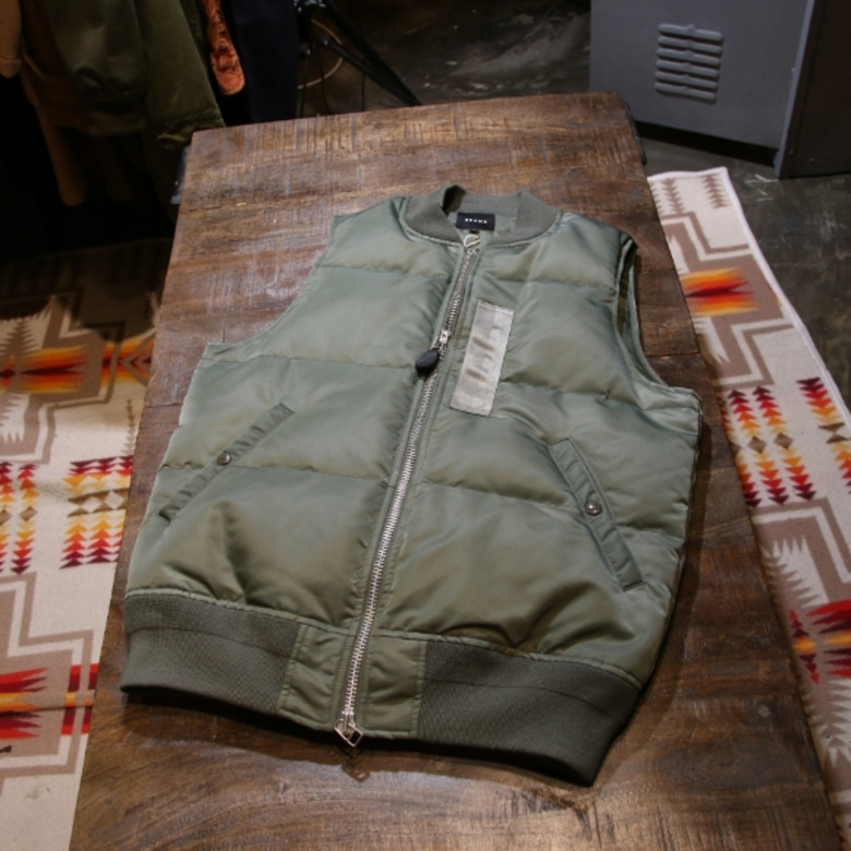 beams ma-1 type down vest
