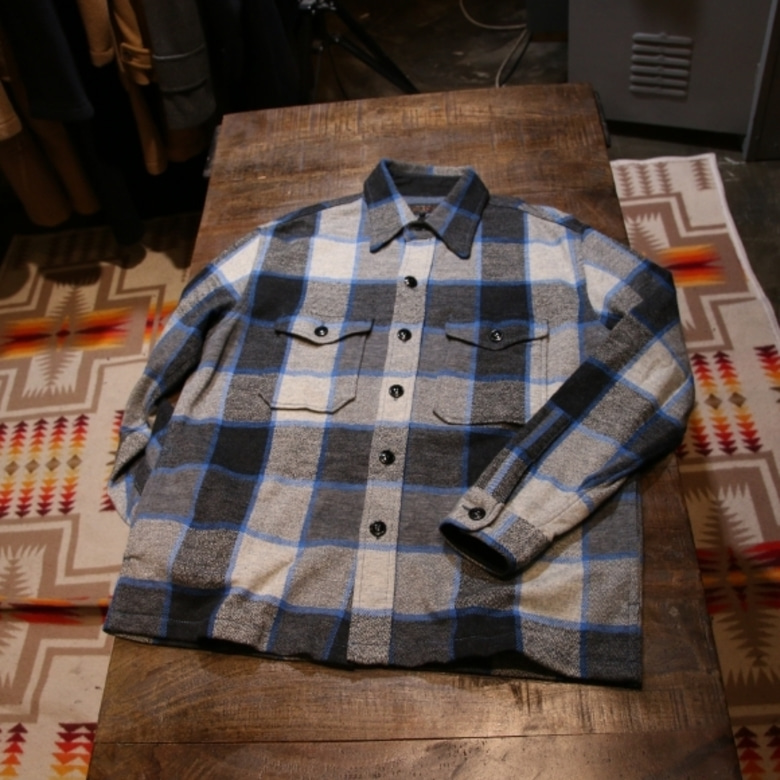 beams wool check jacket