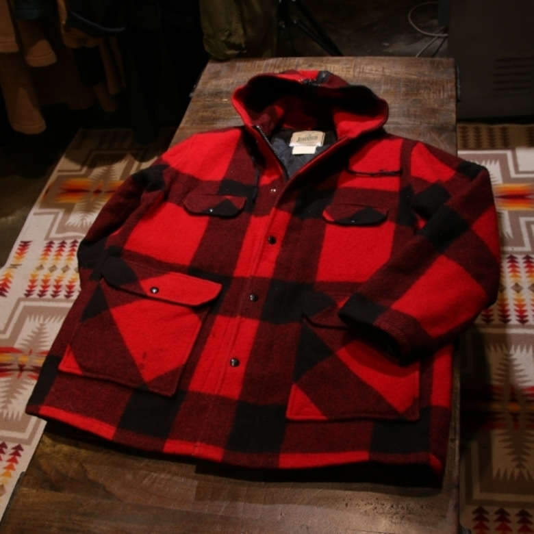 johnson woolen mills buffalo check coat
