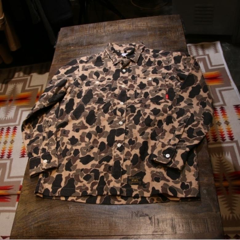 wtaps grove camo flannel shirt