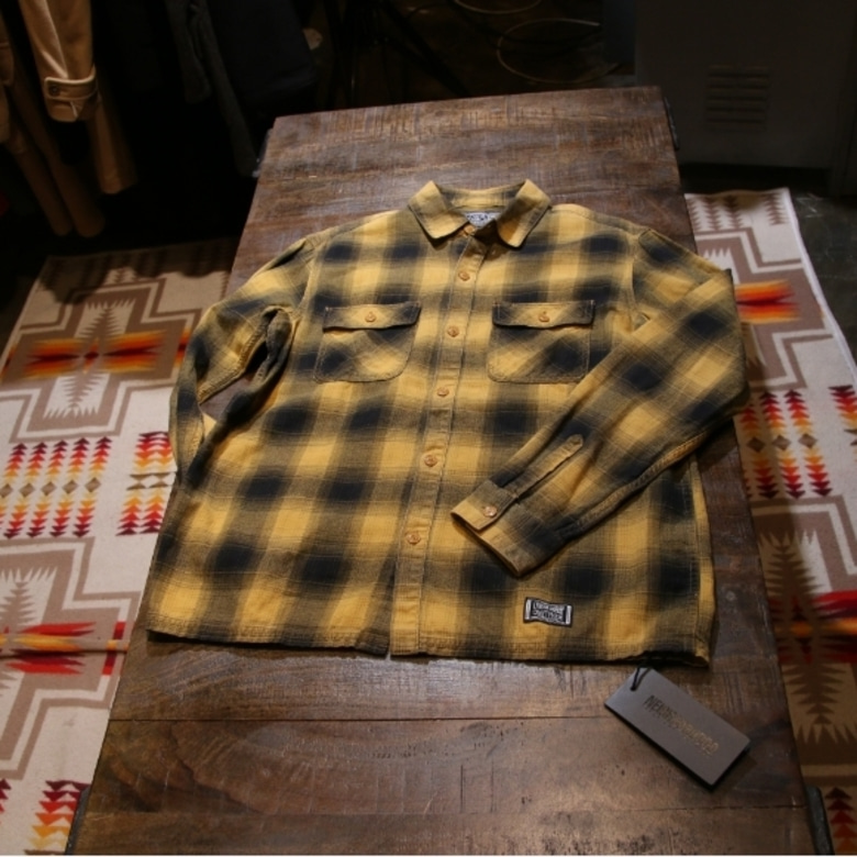 Neighborhood Black Yellow Plaid Logger Shirt