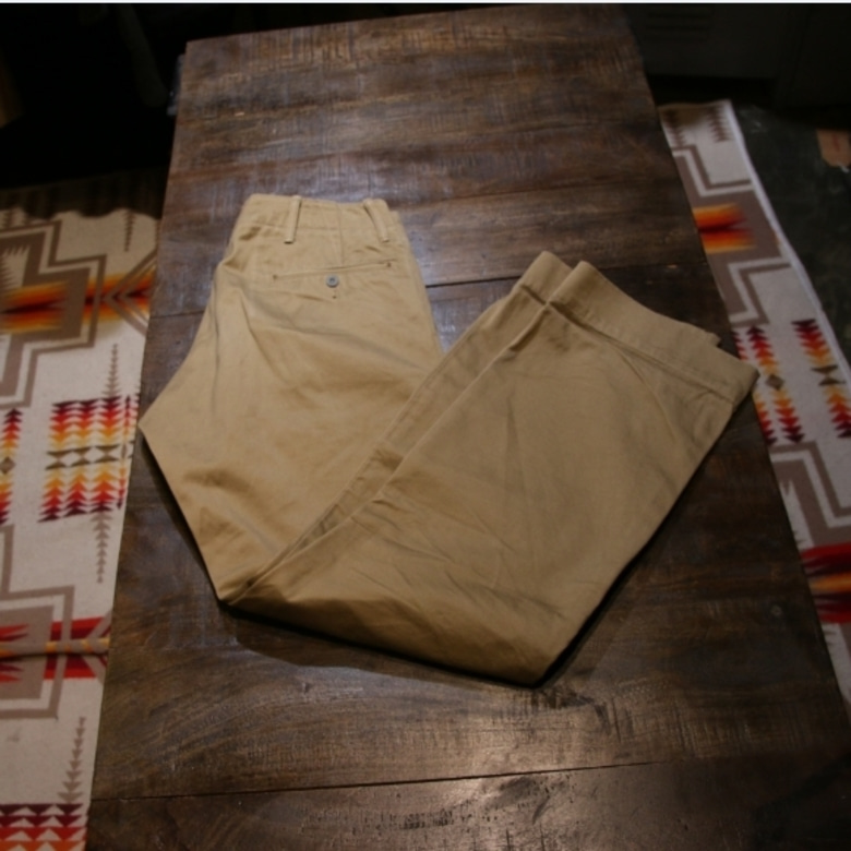 RRL officer selvage chino pants