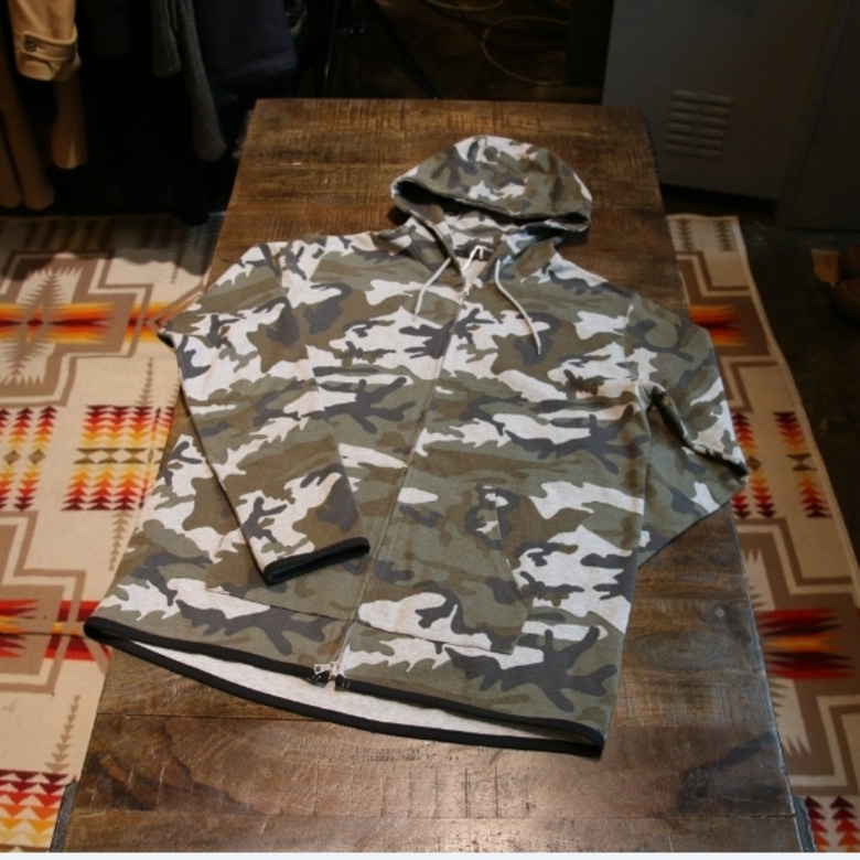 sophnet camo two way zip hood jacket