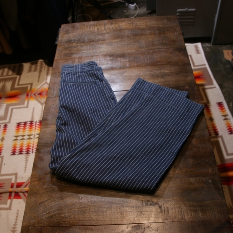 beams boy indigo stripe pants