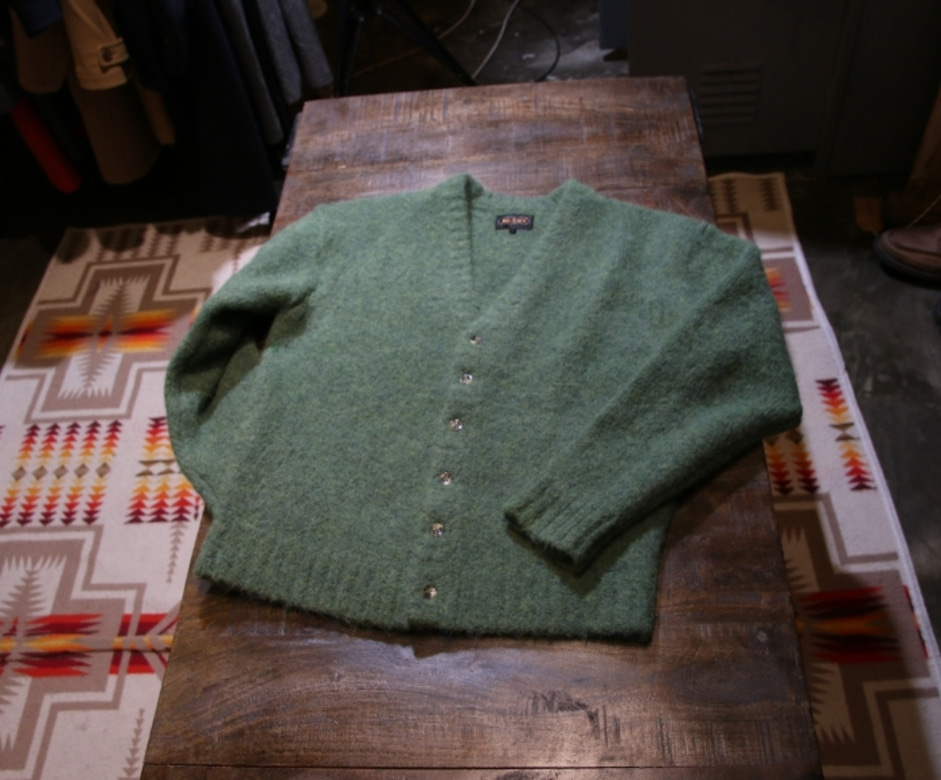 beams alpaca shaggy cardigan