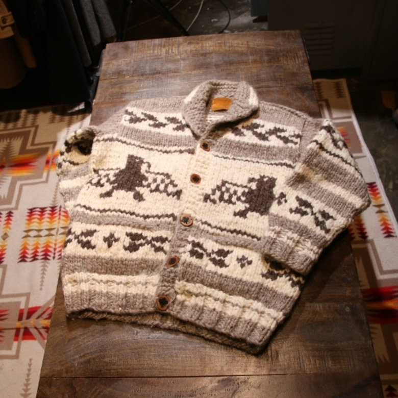 canada button cowichan cardigan