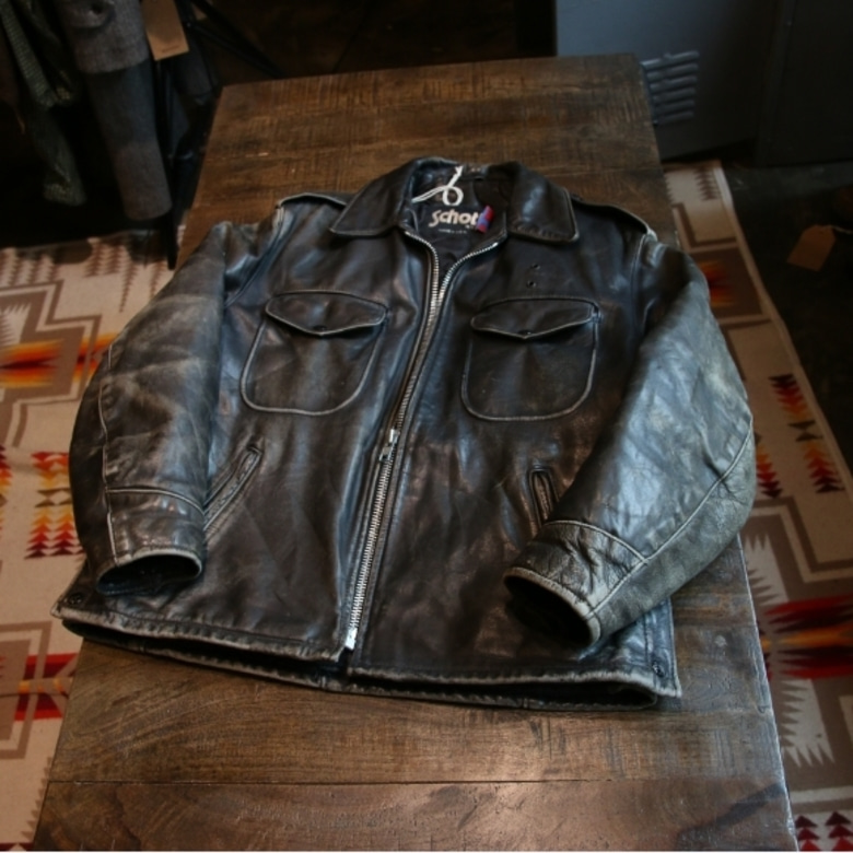 schott policeman leather jacket