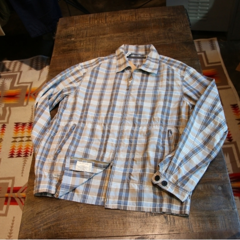 old joe check drizzler jacket