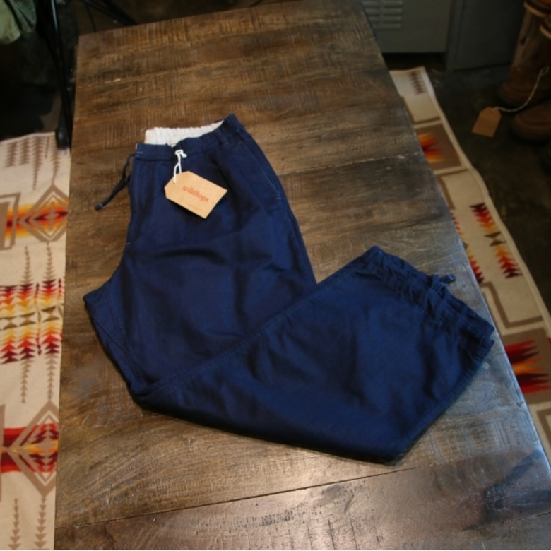 J.S.Homestead indigo wide pants