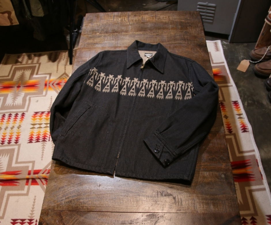 black sign Comanche Pattern Sports Jacket