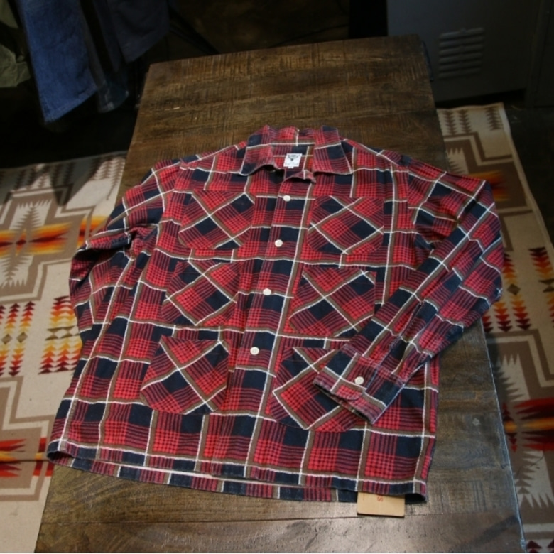 s2w8 red check 6pocket shirt