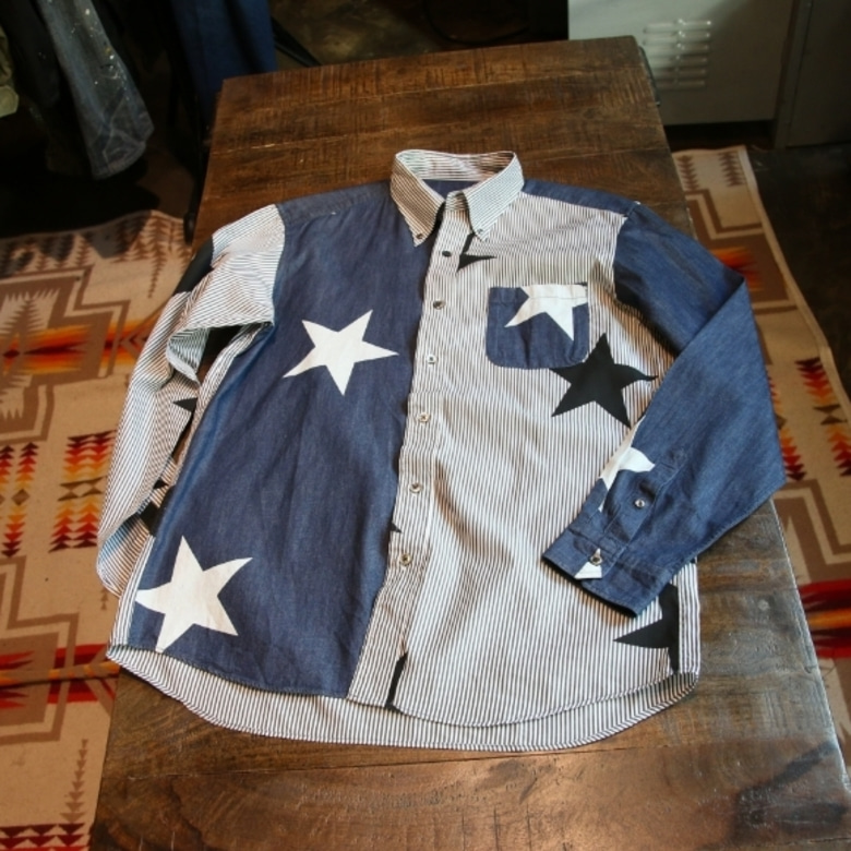 SOPHNET. STAR MIX B.D SHIRT