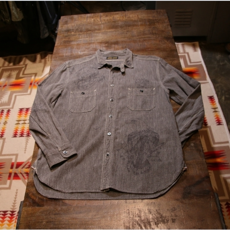 stevenson overall tatoo work shirt