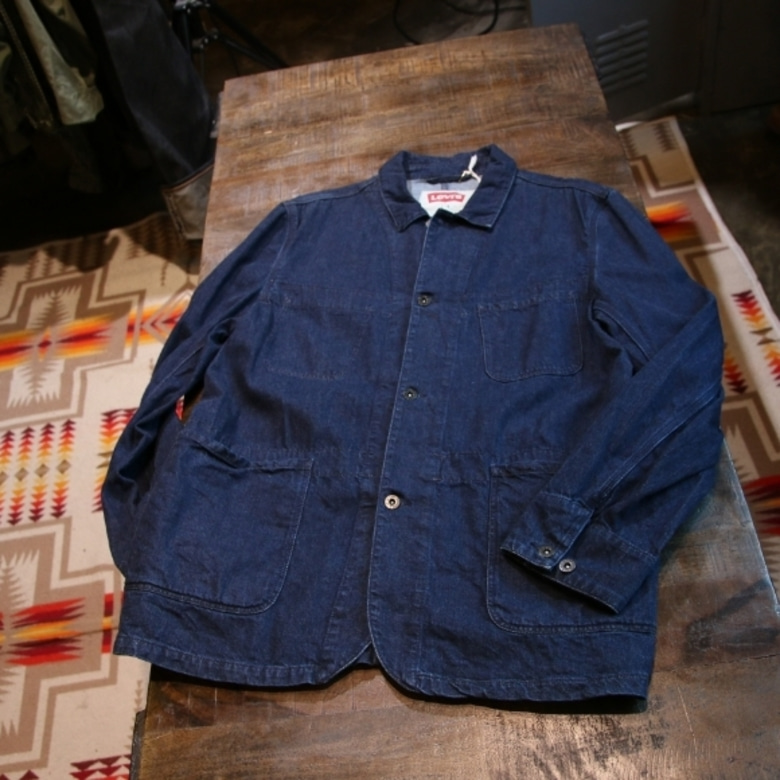 levis indigo work denim jacket