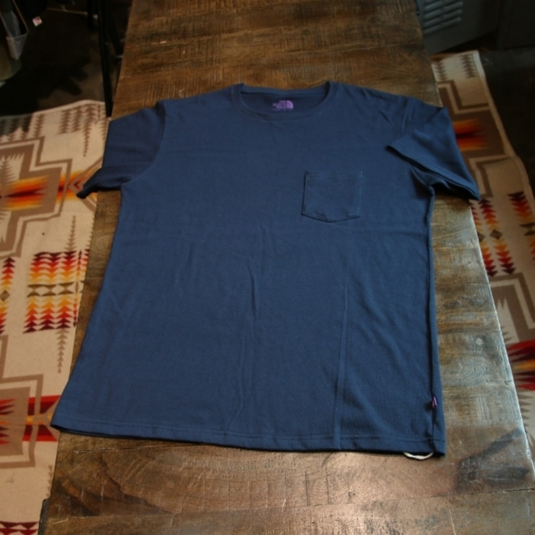 THE NORTH FACE PURPLE LABEL pocket tee (navy)