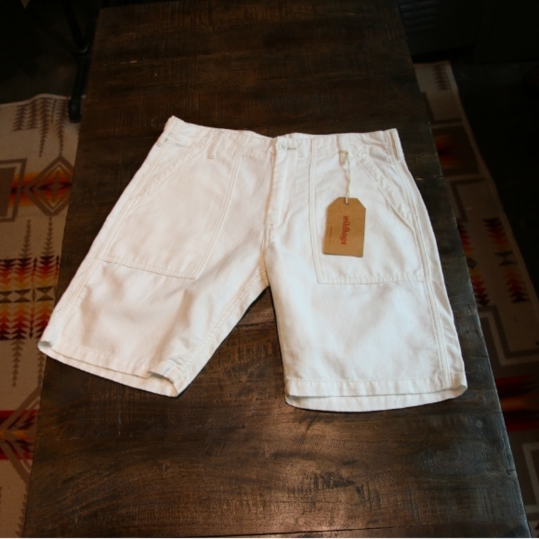 pherrow's white fatigue shorts