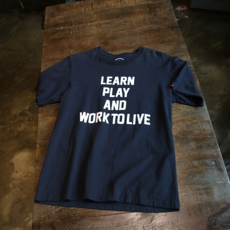 wtaps learn play and work to live tee