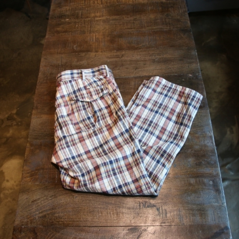 engineered garments check pants