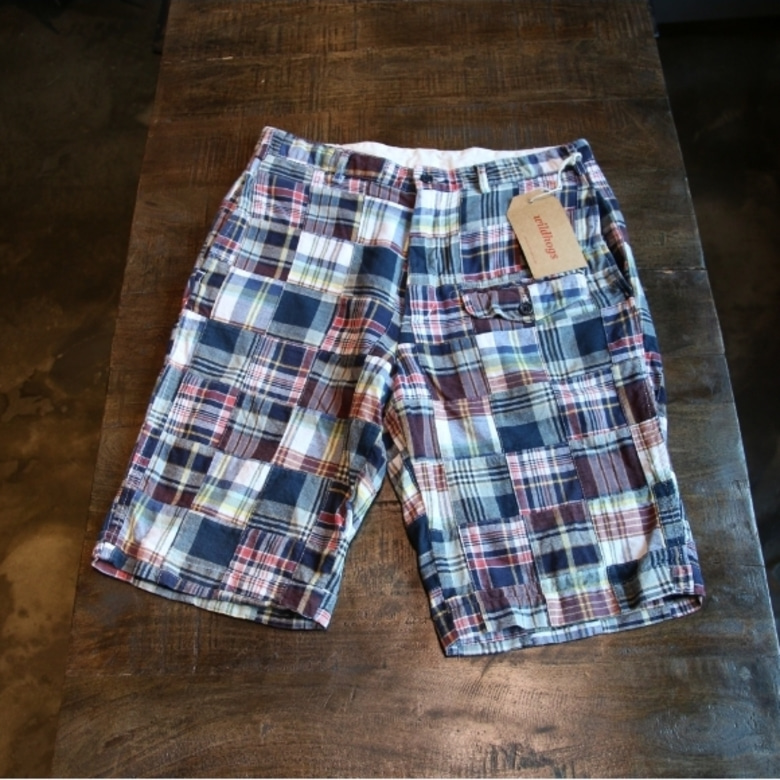 engineered garments madras shorts