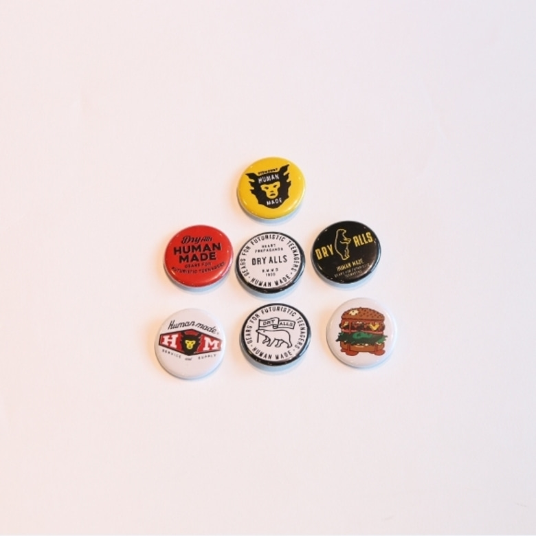 human made badge set
