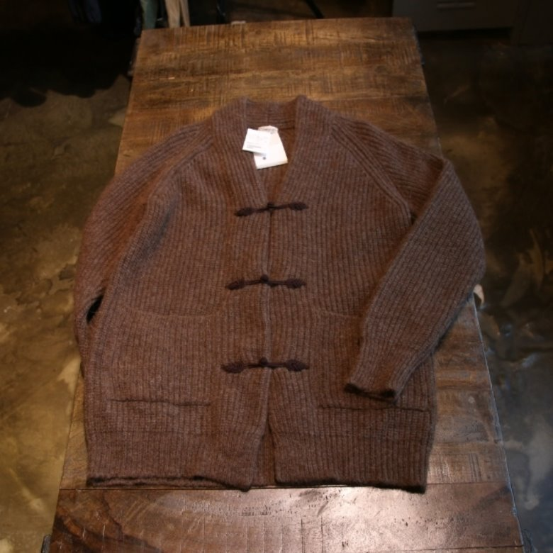 camoshita united arrows alpaca cardigan