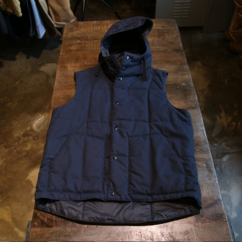 engineered garments navy primaloft vest