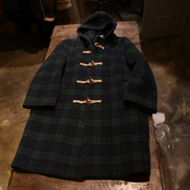 gloverall black watch tartan coat