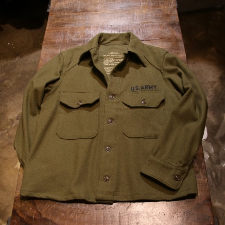 us army og-108 wool shirt (M)