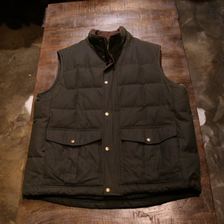 L.L.Bean wax cotton down vest