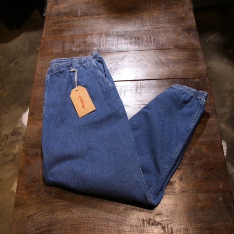 orslow x beams denim jogger pants