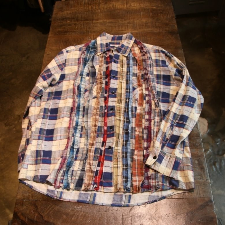 rebuild by needles ribbon flannel shirt