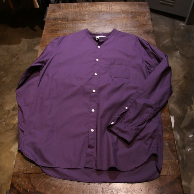 b:ming by beams band collar shirt